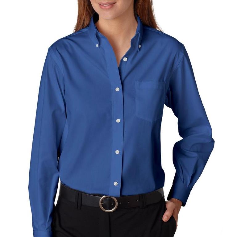 Ladies Van Heusen Long Sleeve Pinpoint Oxford Shirt The