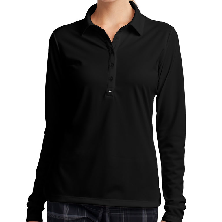 35672891002 Nike Ladies Long Sleeve Dri-FIT Stretch Tech Polo – The Granite ...